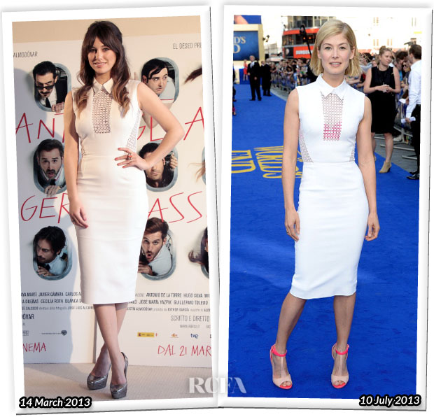 Who Wore Victoria Beckham Better Blanca Suarez or Rosamund Pike