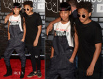 Willow Smith In G Star & Jaden Smith In Alexander Wang and MSFTSrep - 2013 MTV Video Music Awards #VMAs