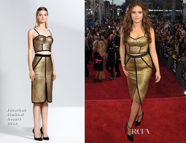 Zoey Deutch In Jonathan Simkhai - 2013 MTV Video Music Awards #VMAs