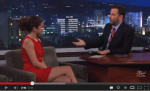 Selena Gomez In David Koma - Jimmy Kimmel Live!