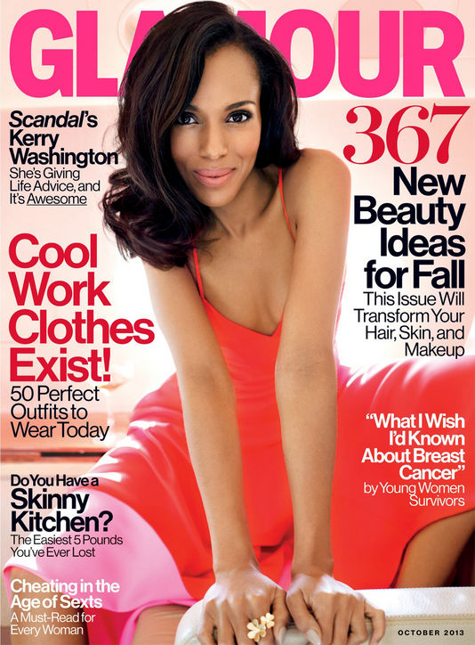 Kerry Washington's Glamour October Issue Cover-Shoot