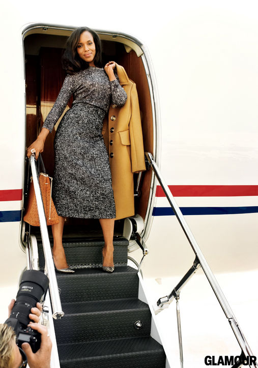 Dolce & Gabbana sweater and skirt. Burberry Prorsum coat. H.Stern ring, Chloe bag and Christian Louboutin pumps