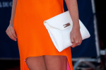 Clotilde Courau's Dior clutch