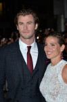 Chris Hemsworth in Gucci and Elsa Pataky in Elie Saab
