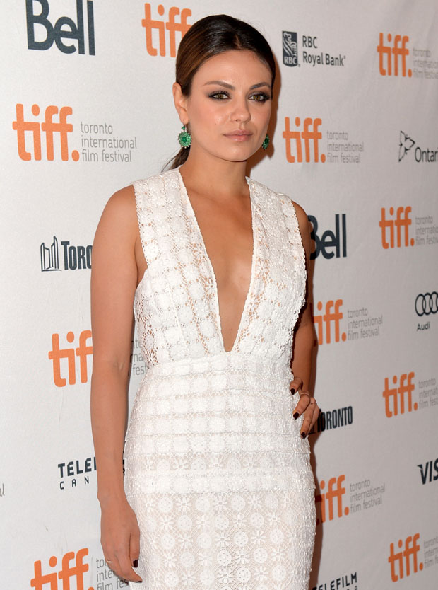 Mila Kunis in Burberry Prorsum
