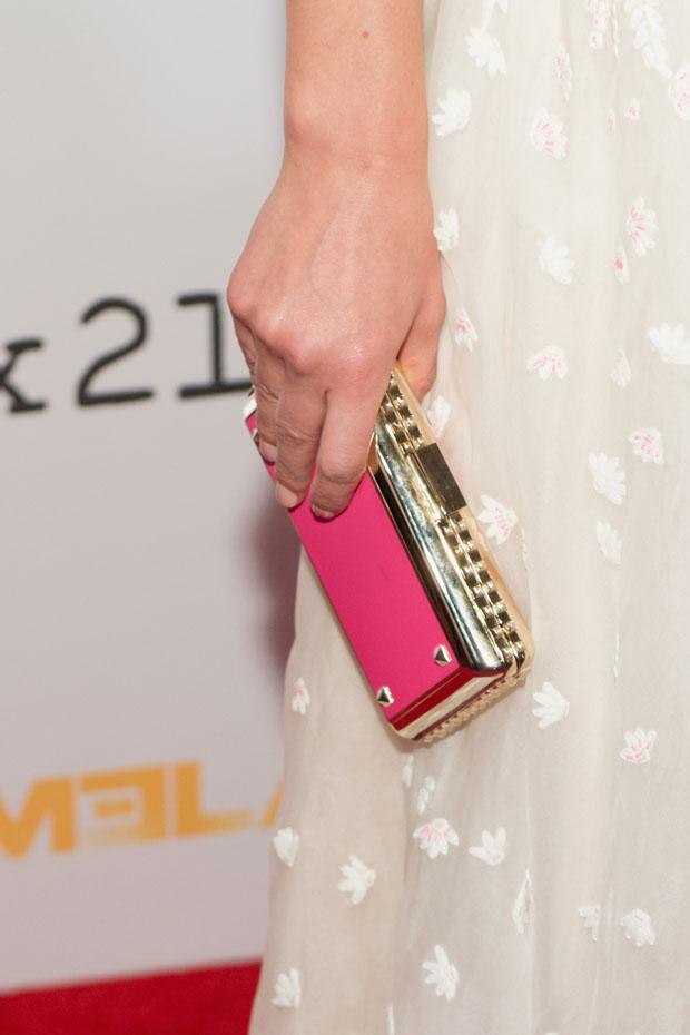 Claire Danes' Valentino clutch