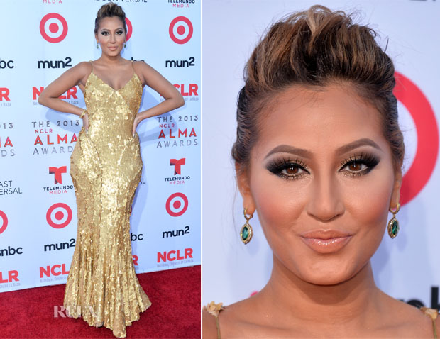 Adrienne Bailon In Zac Posen - 2013 NCLA ALMA Awards