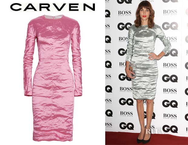 Alexa Chung's Carven Crinkled Taffeta Dress