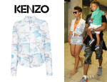 Alicia Keys' Kenzo Painted Cloud Print Blouse