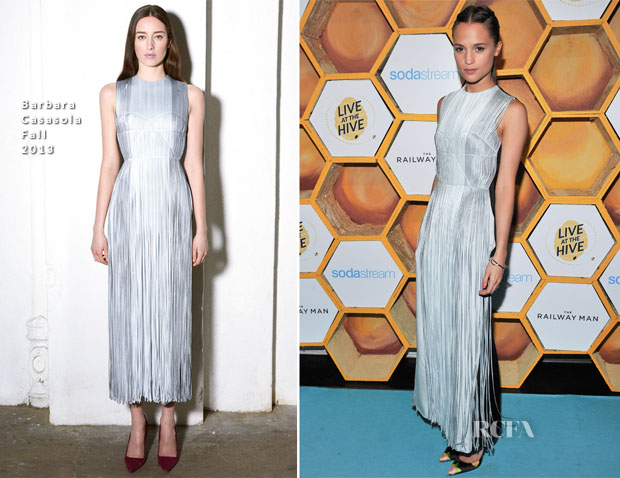 Alicia Vikander In Barbara Casasola - 'The Railway Man' Event