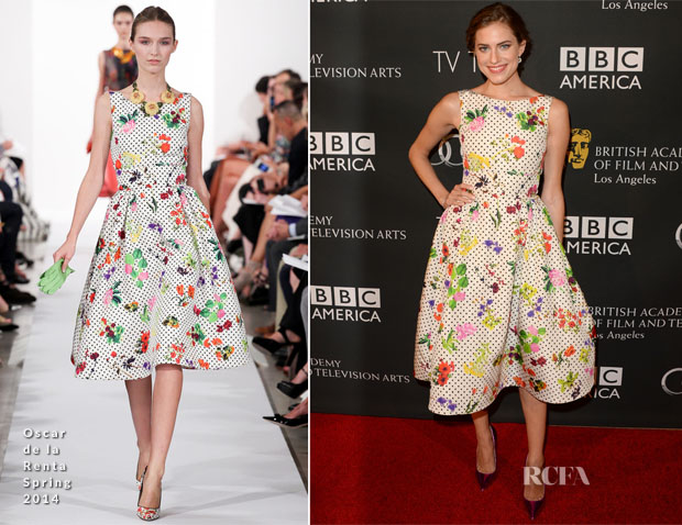 Allison Williams In Oscar de la Renta - BAFTA LA TV Tea 2013