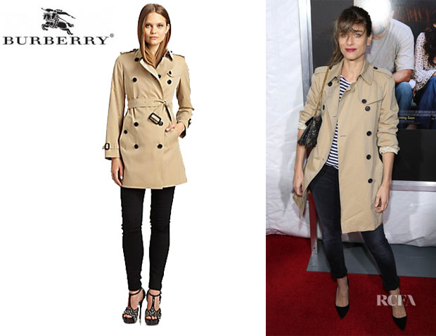 Amanda Peet's Burberry London 'Buckingham' Trenchcoat