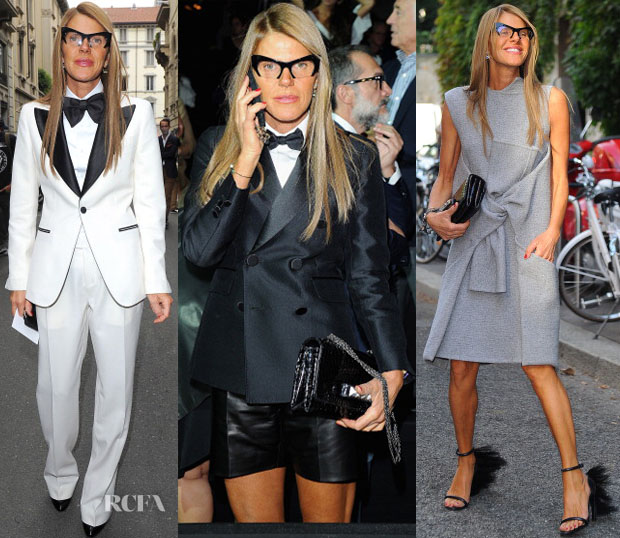 Anna Dello Russo In Gucci, Dsquared² & Celine - Milan Fashion Week Day 1