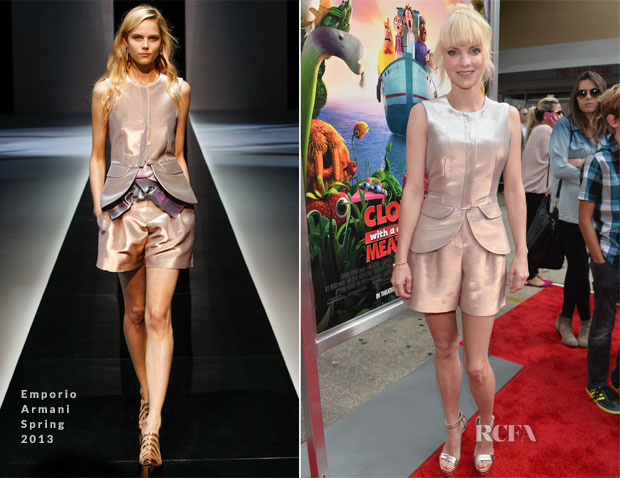 Anna Faris In Emporio Armani - 'Cloudy With A Chance of Meatballs 2' LA Premiere