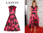 Anna Wintour's Lanvin Belted Floral Dress