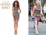 AnnaSophia Robb's Torn by Ronny Kobo 'Solange' Vintage Stripes Dress