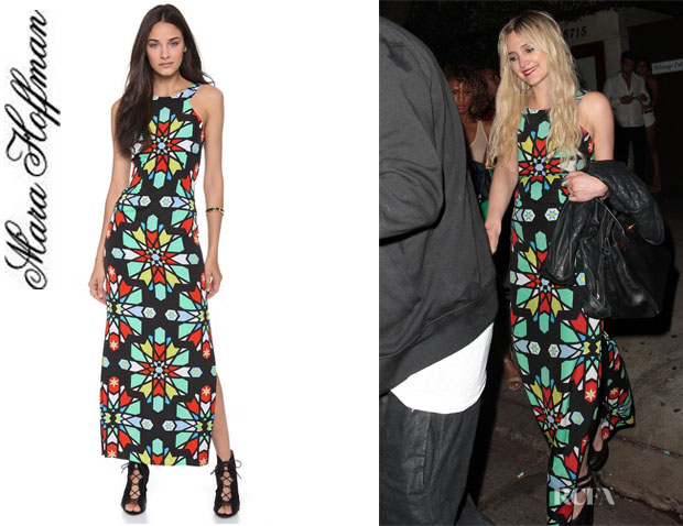 Ashlee Simpson's Mara Hoffman Open Back Column Dress