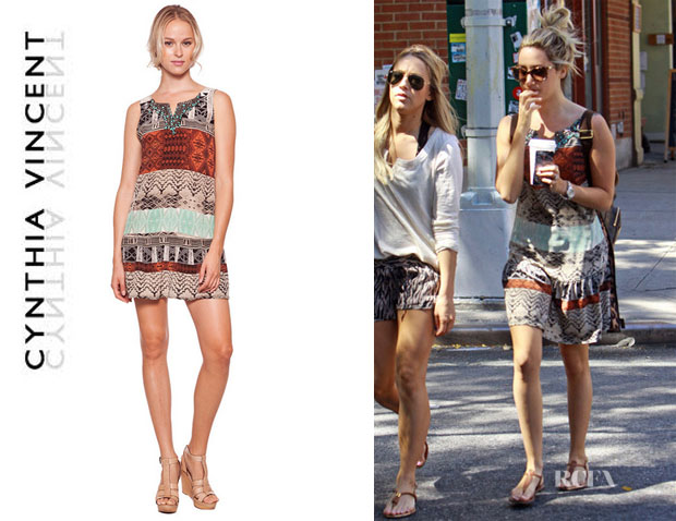 Ashley Tisdale's Cynthia Vincent Drop Waist Shift Dress