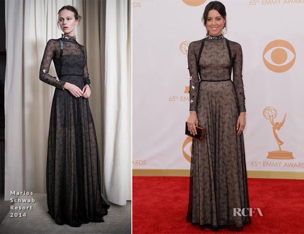 Aubrey Plaza In Marios Schwab - 2013 Emmy Awards