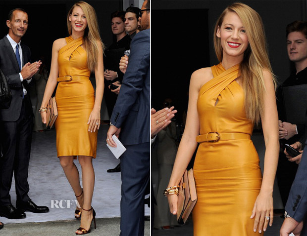 Blake Lively In Gucci - Front Row @ Gucci Spring 2014