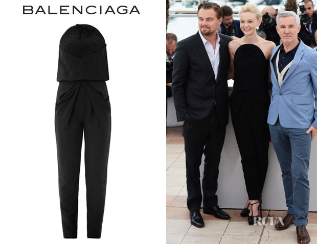 Carey Mulligan's Balenciaga 'Caviar' Embroidered Jumpsuit