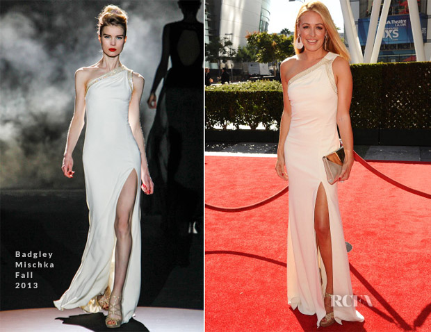 Cat Deeley In Badgley Mischka - 2013 Creative Arts Emmy Awards