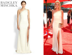 Cat Deeley's Badgley Mischka One Shoulder Gown