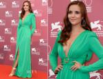 Catalina Sandino Moreno In Emilio Pucci - 'Medeas' Venice Film Festival Photocall