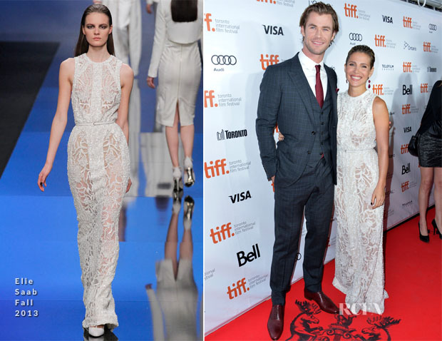 Chris Hemsworth In Gucci & Elsa Pataky In Elie Saab - 'Rush' Toronto Film Festival Premiere