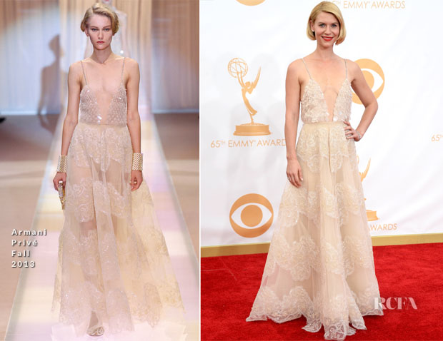 Claire Danes In Armani Privé - 2013 Emmy Awards