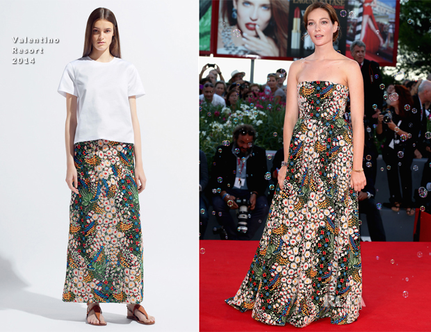 Cristiana Capotondi In Valentino - 'The Zero Theorem' Venice Film Festival Premiere