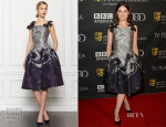 Crystal Reed In Carolina Herrera - BAFTA LA TV Tea Party 2013