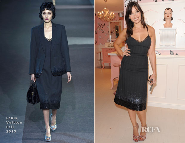 Daisy Lowe In Louis Vuitton - Benefit Cosmetics Store Launch