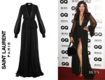 Daisy Lowe's Saint Laurent Floor Length Silk Gown