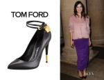 Daisy Lowe's Tom Ford Padlock Leather Pumps