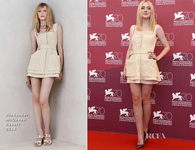 Dakota Fanning In Alexander McQueen - 'Night Moves' Venice Film Festival Photocall