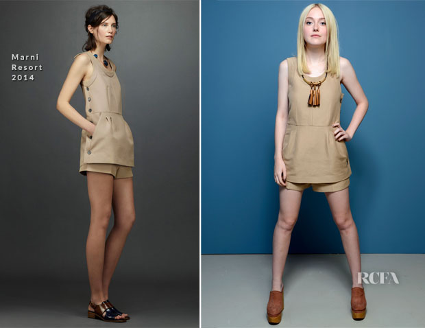 Dakota Fanning In Marni - 'The Last Of Robin Hood' Portraits