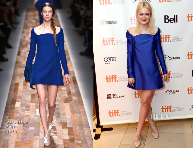 Dakota Fanning In Valentino - 'The Last Of Robin Hood' Toronto Film Festival Premiere