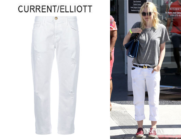 Dakota Fanning's CurrentElliott `Sugar Destroy` Boyfriend Jeans