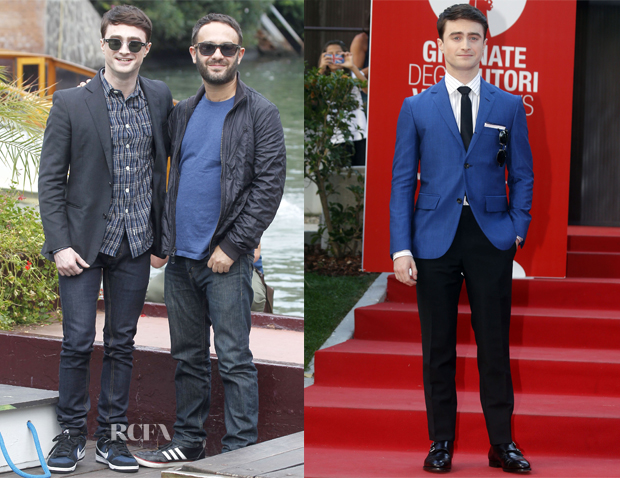 Daniel Radcliffe In Todd Snyder, Topman & David Hart - 'Killing Your Darlings' Venice Film Festival Photocall & Premiere