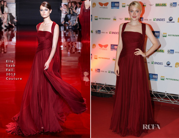 Datoka Fanning In Elie Saab Couture - 'Night Move' Rio International Film Festival Premiere