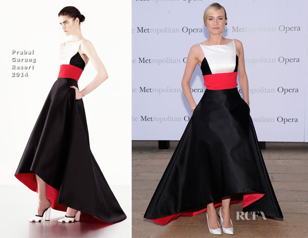 Diane Kruger In Prabal Gurung - Metropolitan Opera Season Opening Production Of 'Eugene Onegin'