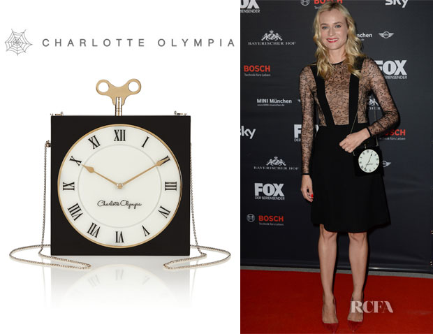 Diane Kruger's Charlotte Olympia Timepiece Clutch