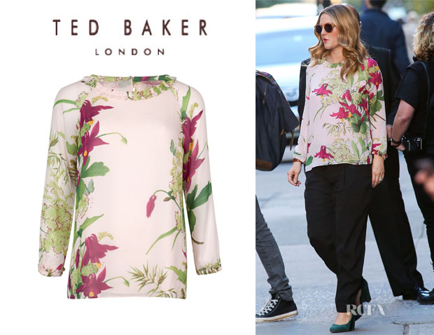 Drew Barrymore's Ted Barker 'Rosiye' Floral Printed Blouse