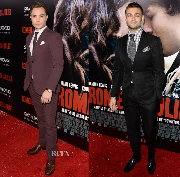 Ed Westwick In Zegna & Douglas Booth In Tom Ford - 'Romeo & Juliet' LA Premiere