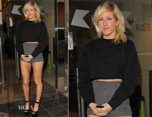 Ellie Goulding In Rihanna for River Island & Coincidence & Chance - Kiss FM Studios
