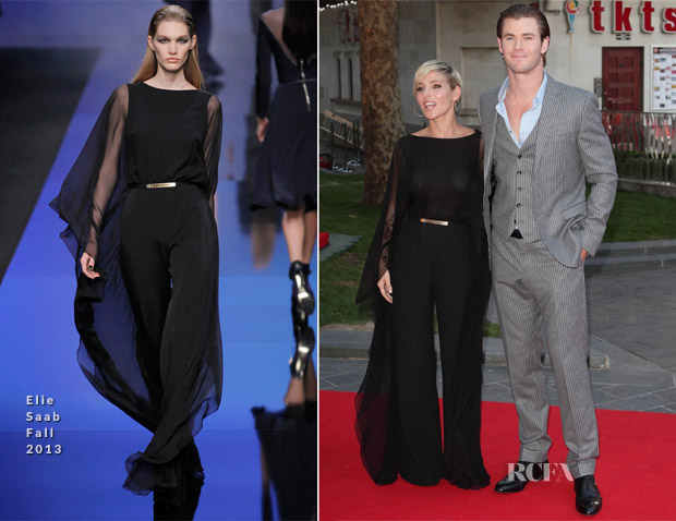Elsa Pataky In Elie Saab and Chris Hemsworth In Gucci - 'Rush' World Premiere