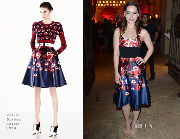 Emilia Clarke In Prabal Gurung - TIFF HFPAInStyle Party