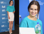 Emilia Clarke In Versace - 'Dom Hemingway' Toronto Film Festival Press Conference