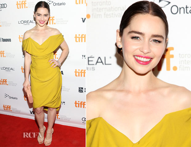 Emilia Clarke In Vivienne Westwood  - 'Dom Hemingway' Toronto Film Festival Premiere